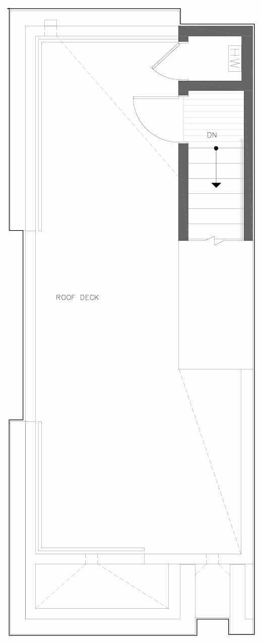 Roof Deck Floor Plan of 6309A 9th Ave NE in Zenith Towns East by Isola Homes