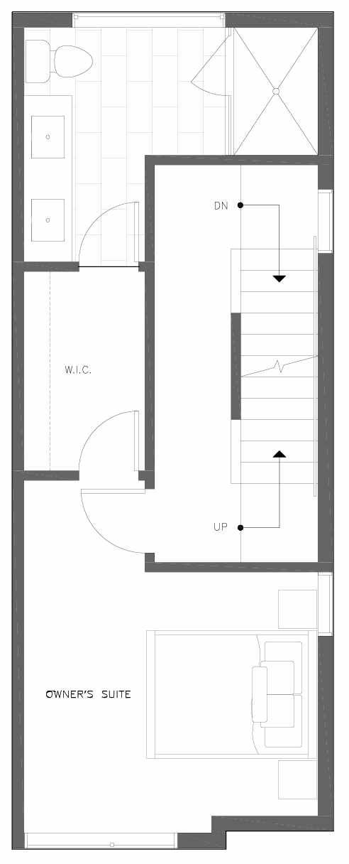Third Floor Plan of 6309A 9th Ave NE in Zenith Towns East by Isola Homes