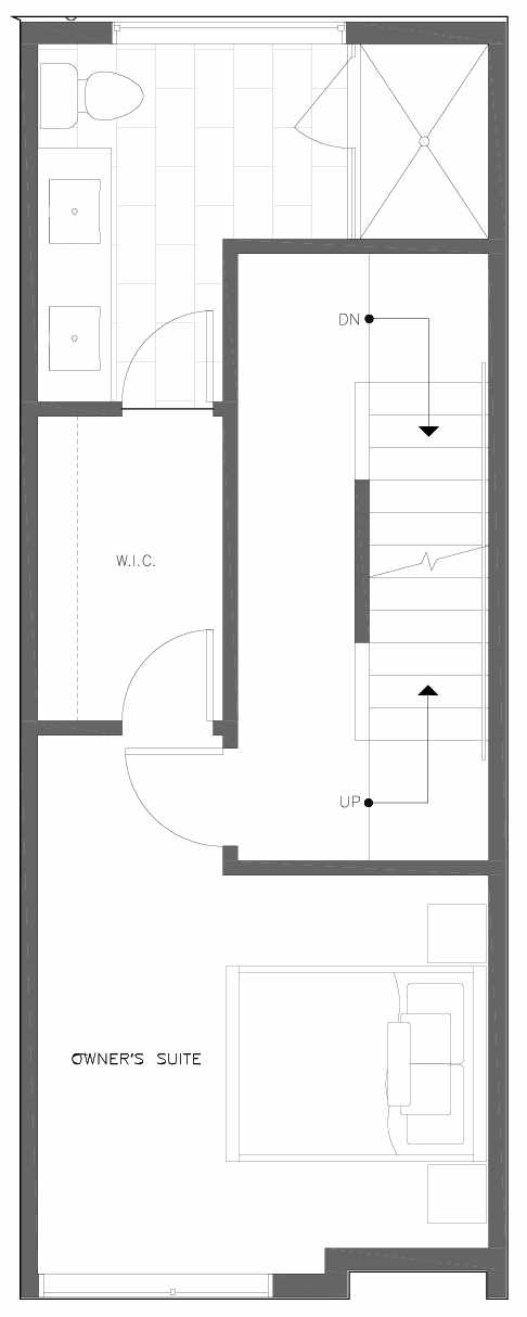 Third Floor Plan of 6309D 9th Ave NE in Zenith Towns East by Isola Homes