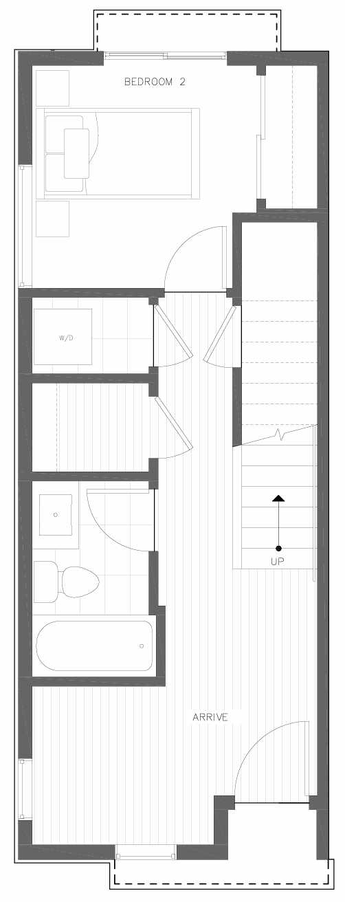 First Floor Plan of 6309F 9th Ave NE in Zenith Towns East by Isola Homes