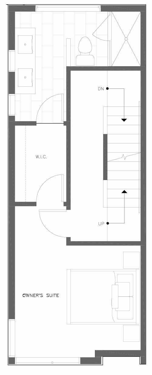 Third Floor Plan of 6309F 9th Ave NE in Zenith Towns East by Isola Homes