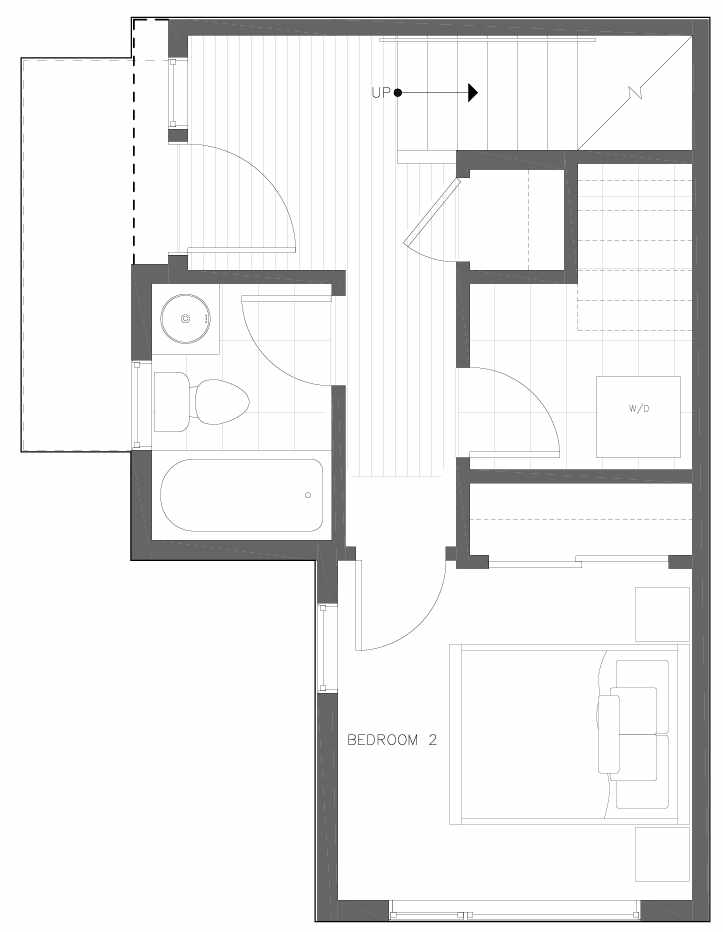 First Floor Plan of 6311A 9th Ave NE in Zenith Towns West by Isola Homes