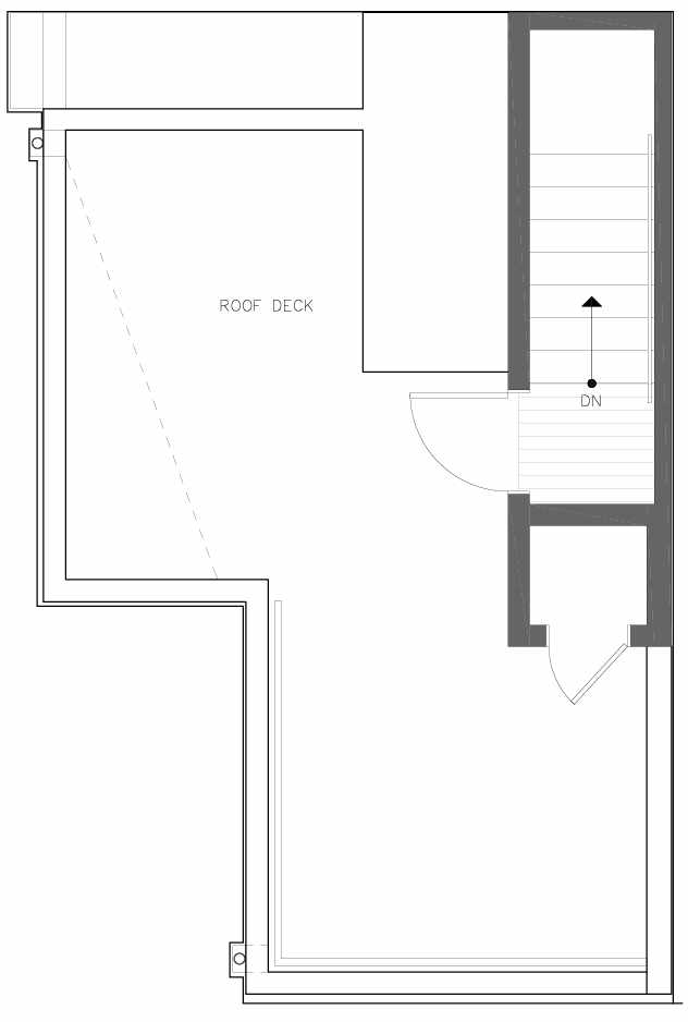 Roof Deck Floor Plan of 6311A 9th Ave NE in Zenith Towns West by Isola Homes