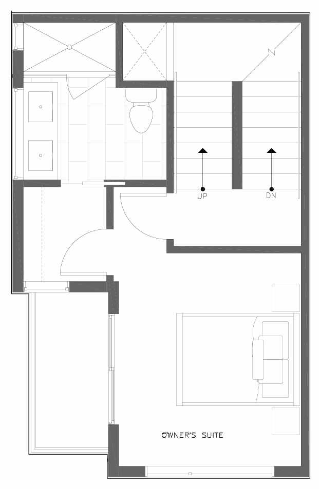 Third Floor Plan of 6311A 9th Ave NE in Zenith Towns West by Isola Homes