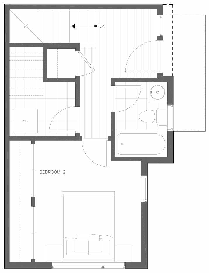 First Floor Plan of 6311C 9th Ave NE in Zenith Towns West by Isola Homes