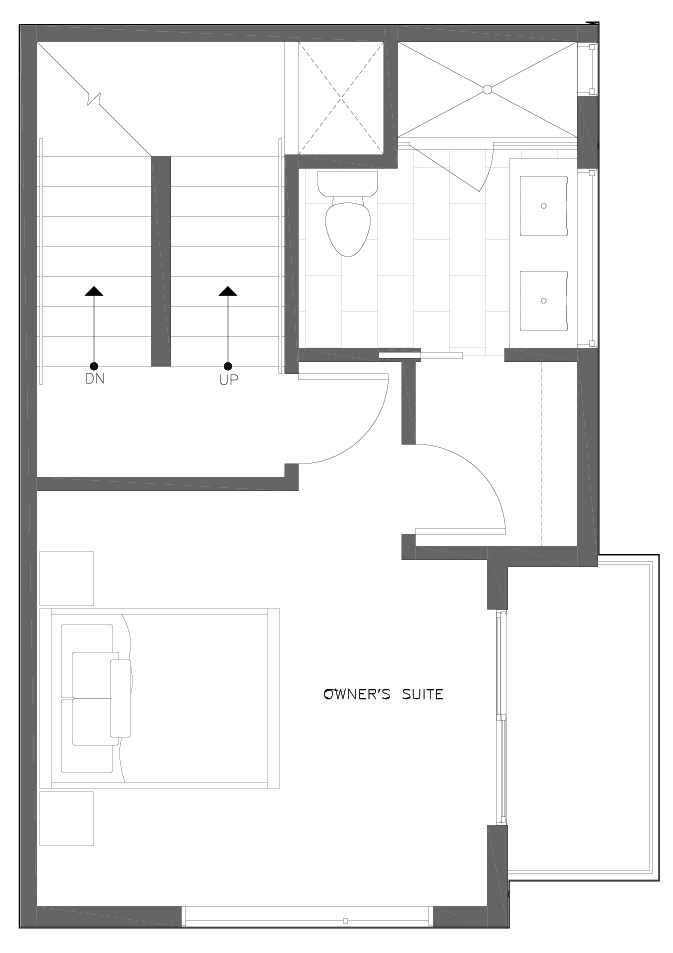 Third Floor Plan of 6311C 9th Ave NE in Zenith Towns West by Isola Homes