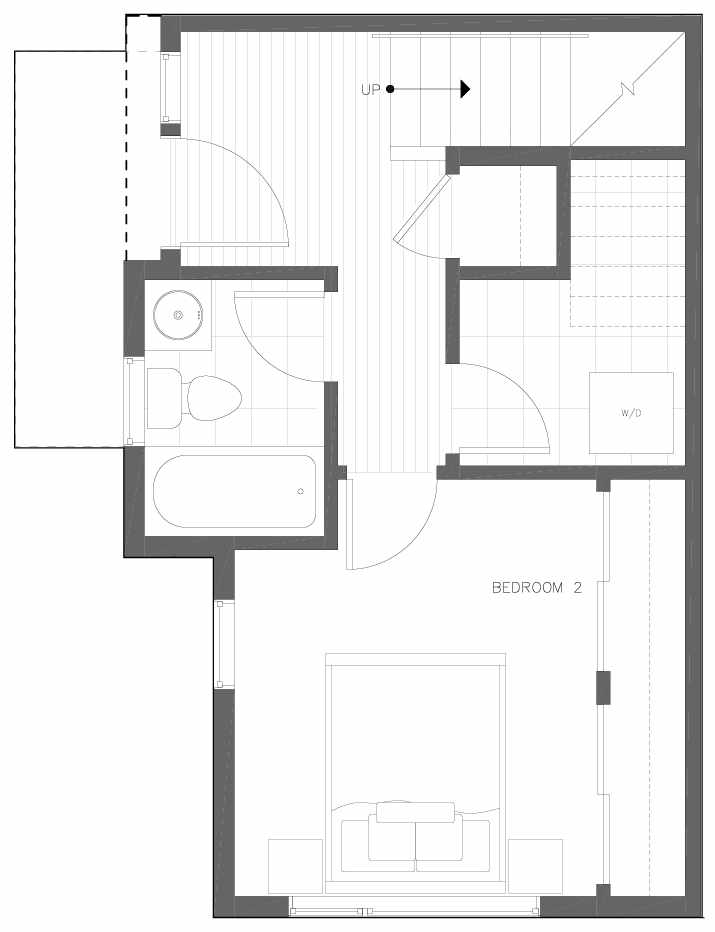 First Floor Plan of 6313A 9th Ave NE in Zenith Towns West by Isola Homes