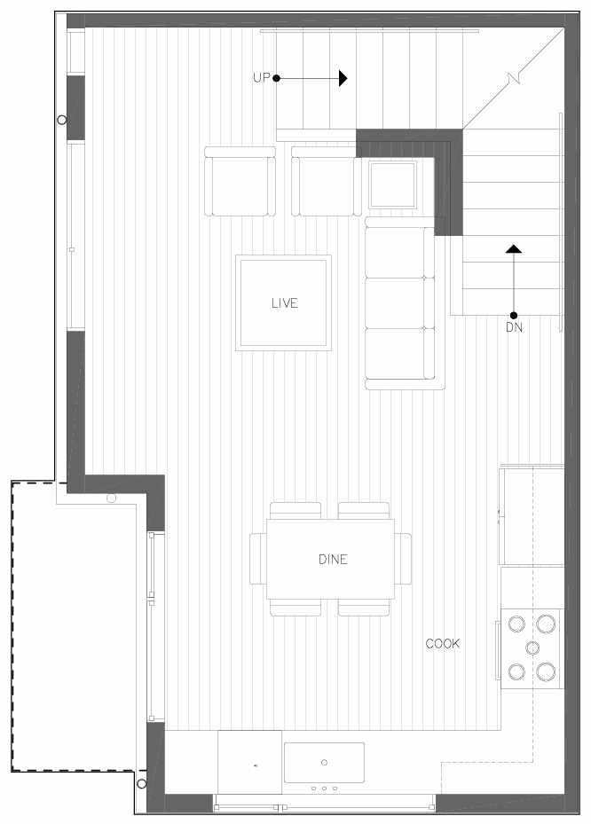 Second Floor Plan of 6313A 9th Ave NE in Zenith Towns West by Isola Homes