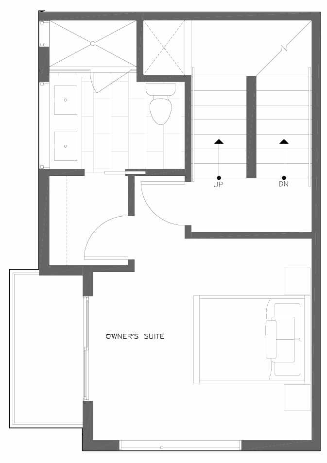 Third Floor Plan of 6313A 9th Ave NE in Zenith Towns West by Isola Homes