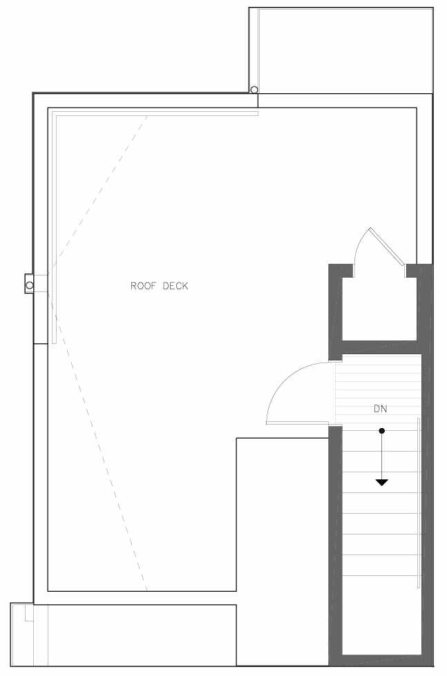 Roof Deck Floor Plan of 6313B 9th Ave NE in Zenith Towns West by Isola Homes