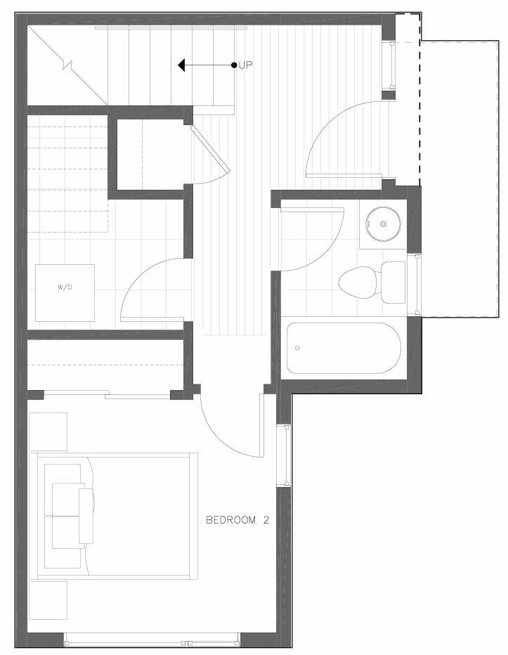 First Floor Plan of 6313C 9th Ave NE in Zenith Towns West by Isola Homes