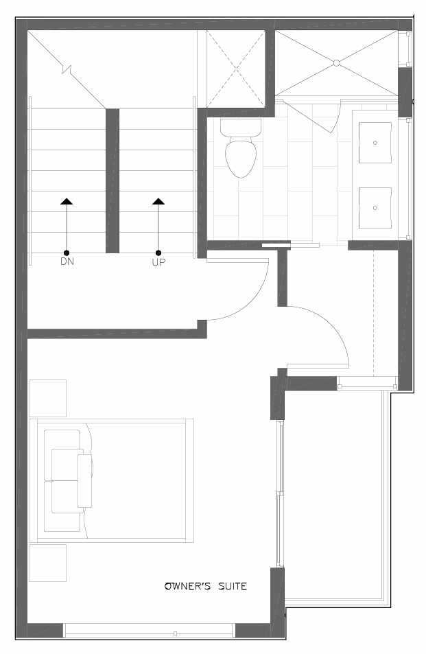 Third Floor Plan of 6313C 9th Ave NE in Zenith Towns West by Isola Homes