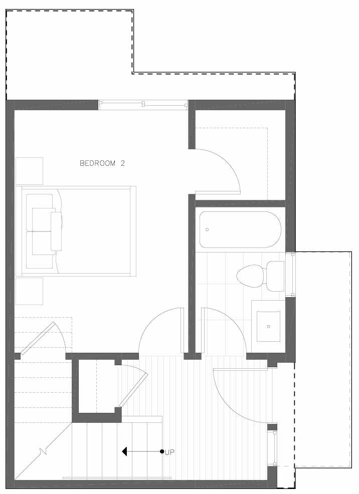 First Floor Plan of 6311D 9th Ave NE in Zenith Towns West by Isola Homes