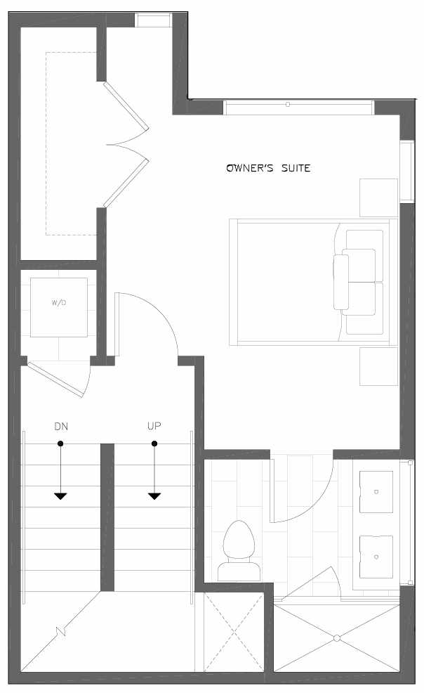 Third Floor Plan of 6311D 9th Ave NE in Zenith Towns West by Isola Homes