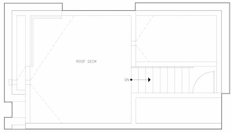 Roof Deck Floor Plan of 6317A 9th Ave NE, One of Zenith Towns North by Isola Homes