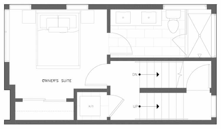 Third Floor Plan of 6317A 9th Ave NE, One of Zenith Towns North by Isola Homes
