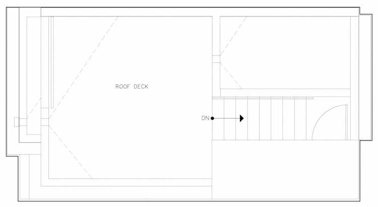 Roof Deck Floor Plan of 6317B 9th Ave NE, One of Zenith Towns North by Isola Homes