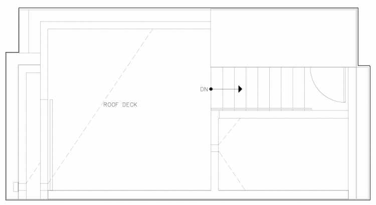 Roof Deck Floor Plan of 6317C 9th Ave NE, One of Zenith Towns North by Isola Homes