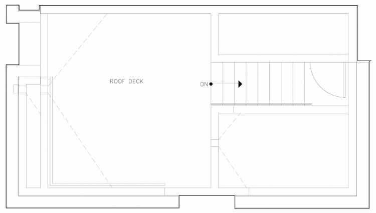 Roof Deck Floor Plan of 6317F 9th Ave NE, One of Zenith Towns North by Isola Homes