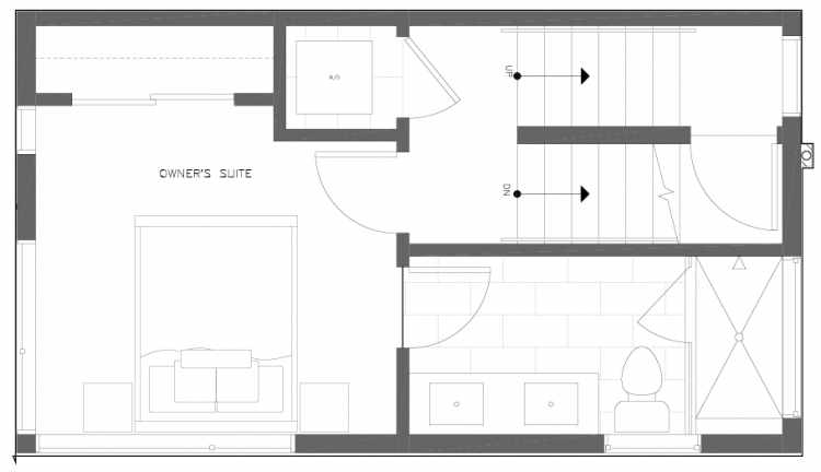 Third Floor Plan of 6317F 9th Ave NE, One of Zenith Towns North by Isola Homes