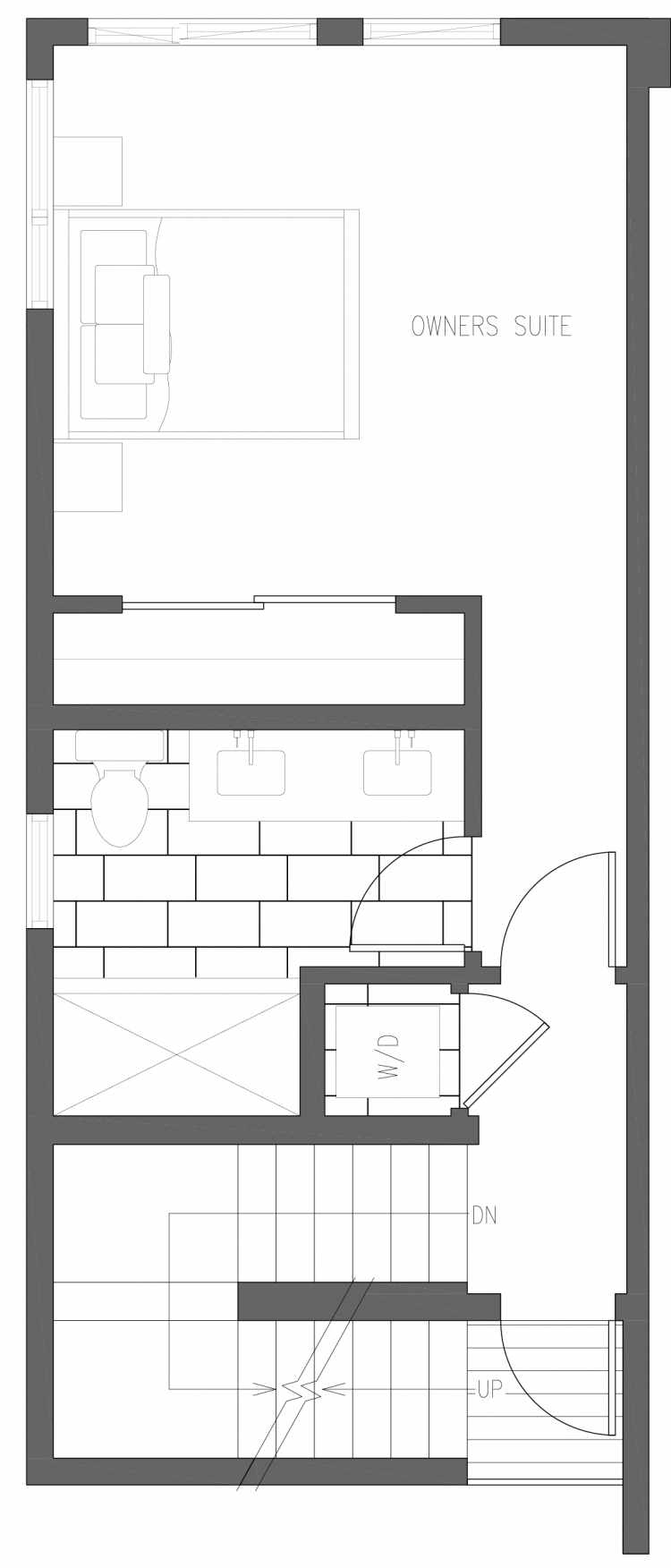 Third Floor Plan of 6411 14th Ave NW, One of the Oleana Townhomes in Ballard by Isola Homes
