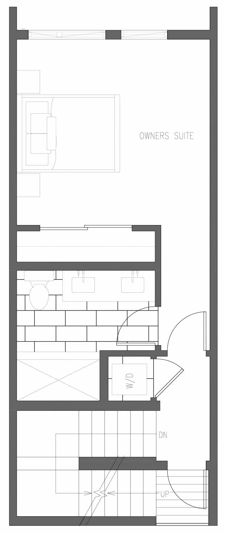 Third Floor Plan of 6415 14th Ave NW, One of the Oleana Townhomes in Ballard by Isola Homes
