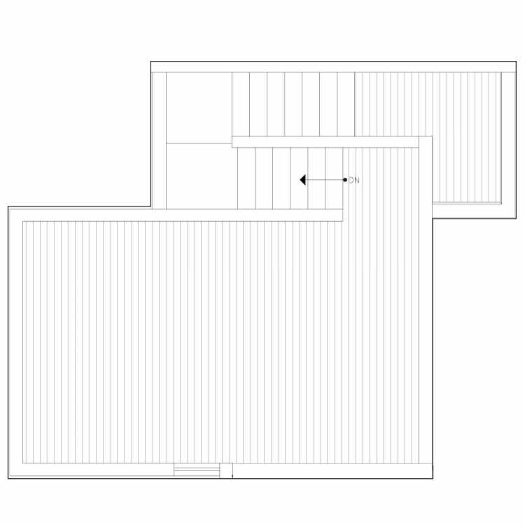 Roof Deck Floor Plan of 6539E 4th Ave NE in the Bloom Townhomes at Green Lake