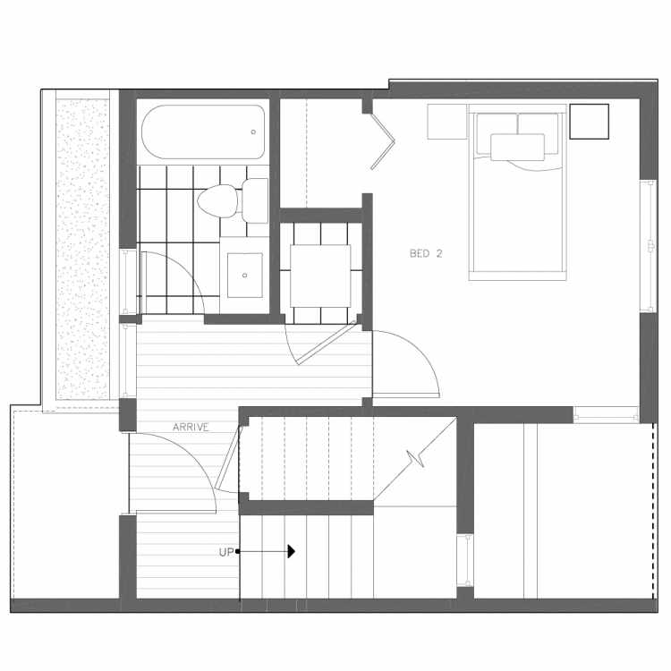 First Floor Plan of 6539B 4th Ave NE in the Bloom Townhomes at Green Lake