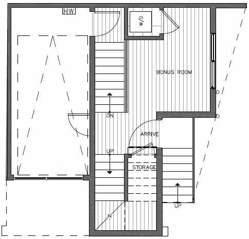 First Floor Plan of 7211 5th Ave NE of the Verde Towns in Green Lake
