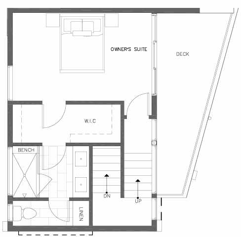 Fourth Floor Plan of 7211 5th Ave NE of the Verde Towns in Green Lake