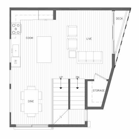 Second Floor Plan of 7211 5th Ave NE of the Verde Towns in Green Lake
