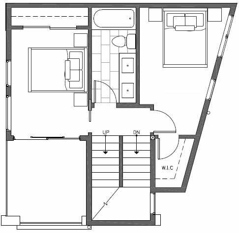 Third Floor Plan of 7211 5th Ave NE of the Verde Towns in Green Lake