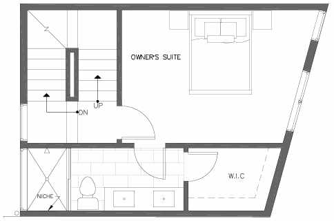 Third Floor Plan of 7213 5th Ave NE of the Verde Towns in Green Lake