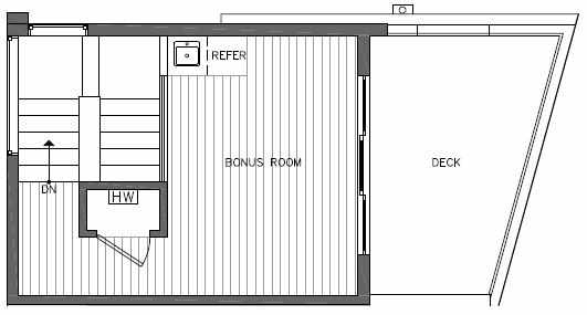 Roof Deck Floor Plan of 7215 5th Ave NE of the Verde Towns in Green Lake