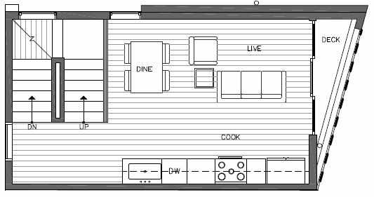 Second Floor Plan of 7215 5th Ave NE of the Verde Towns in Green Lake