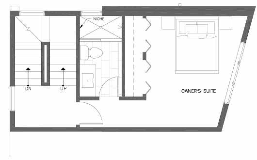 Third Floor Plan of 7215 5th Ave NE of the Verde Towns in Green Lake