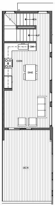 Second Floor Plan of 7217 5th Ave NE of the Verde Towns in Green Lake