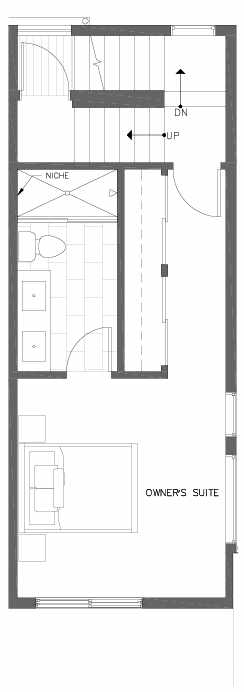 Third Floor Plan of 7217 5th Ave NE of the Verde Towns in Green Lake