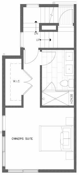 Third Floor Plan of 7219 5th Ave NE of the Verde Towns in Green Lake
