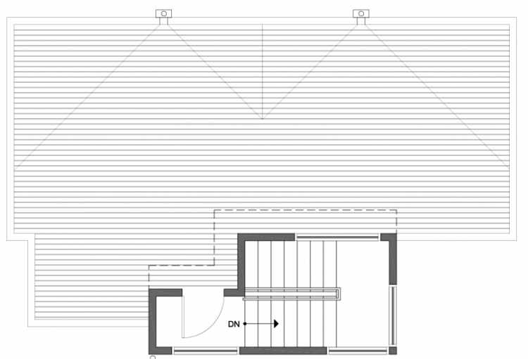 Roof Deck Floor Plan of 807 N 47th St in Sunstone at Fremont by Isola Homes