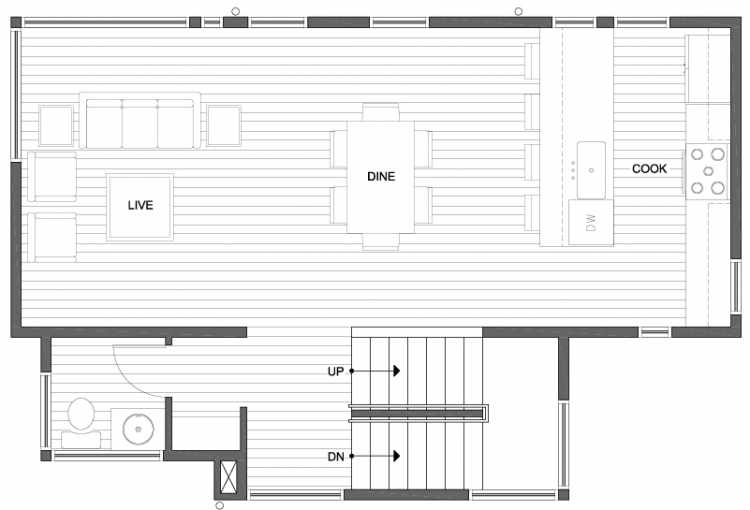 Second Floor Plan of 807 N 47th St in Sunstone at Fremont by Isola Homes