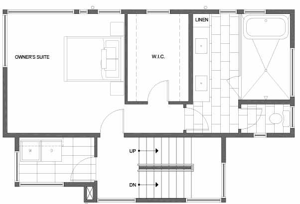 Third Floor Plan of 807 N 47th St in Sunstone at Fremont by Isola Homes