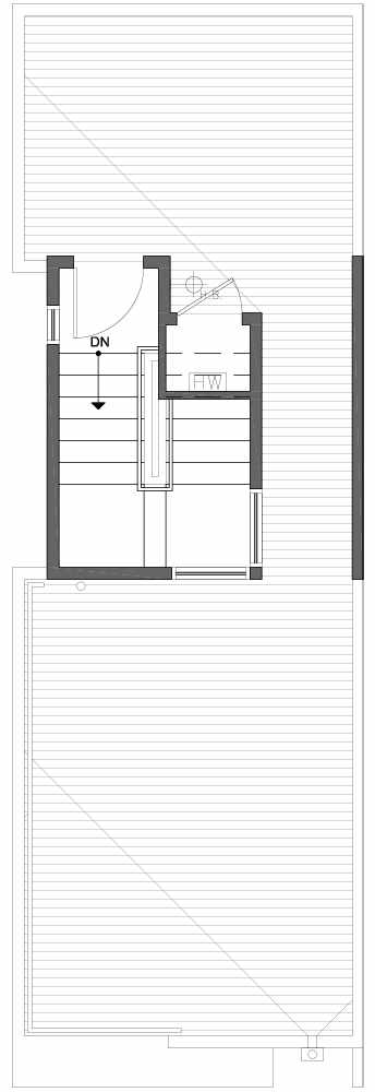 Roof Deck Floor Plan of 809C N 47th St in Sunstone at Fremont by Isola Homes