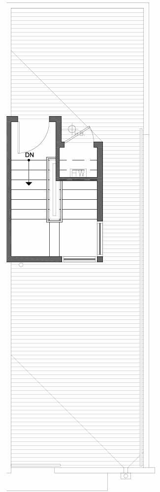 Roof Deck Floor Plan of 809A N 47th St in Sunstone at Fremont by Isola Homes