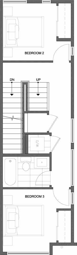 Second Floor Plan of 809A N 47th St in Sunstone at Fremont by Isola Homes