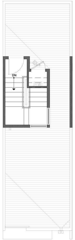 Roof Deck Floor Plan of 809B N 47th St in Sunstone at Fremont by Isola Homes