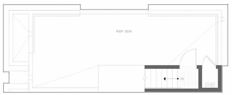 Roof Deck Floor Plan of 816 NE 63rd St in Zenith Towns South by Isola Homes