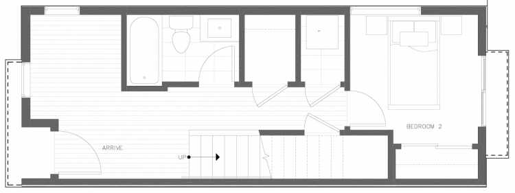 First Floor Plan of 816 NE 63rd St in Zenith Towns South by Isola Homes