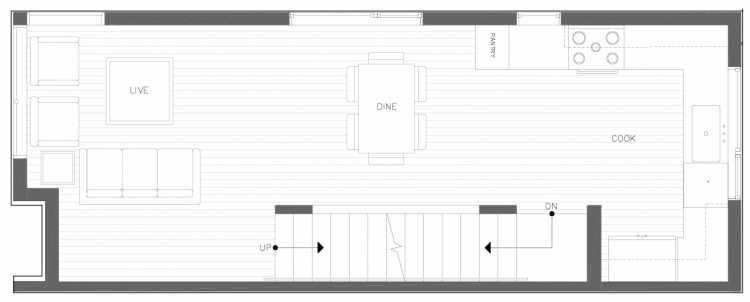 Second Floor Plan of 816 NE 63rd St in Zenith Towns South by Isola Homes