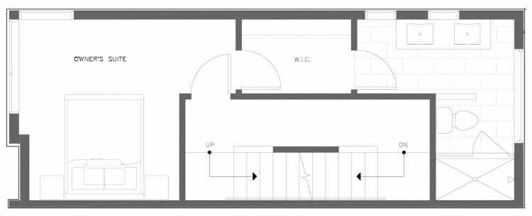Third Floor Plan of 816 NE 63rd St in Zenith Towns South by Isola Homes